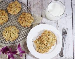 No Flour Almond Cookies คุกกี้อัลมอนด์(สูตรไร้แป้ง)