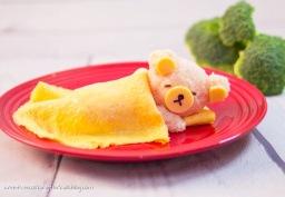 Rilukkuma Omelette Rice ข้าวไข่เจียวหมีคุมะ